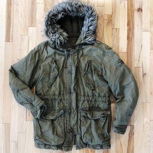 Abercrombie Wilcox Military Field Parka Jacket